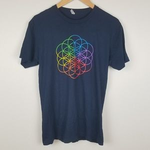 Tops - Coldplay 2016 Concert Tour Graphic Tee Small